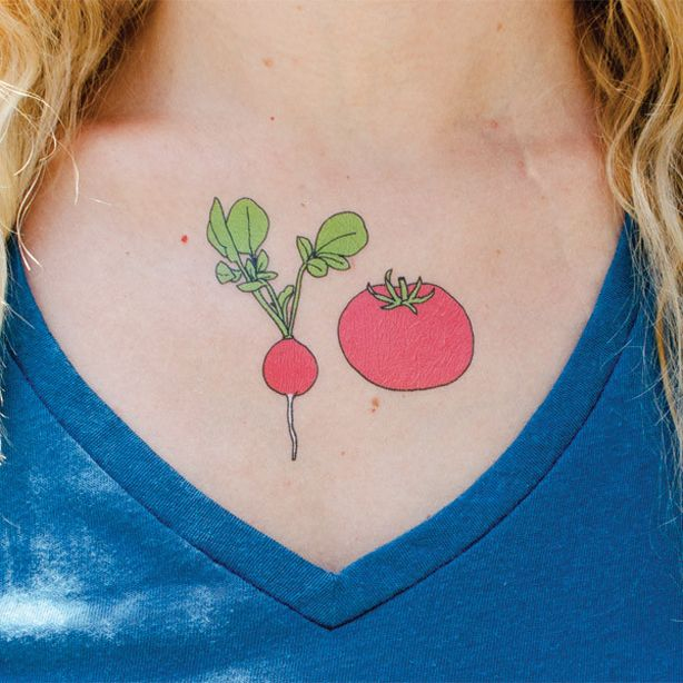 vegetable tattoo lovers ink