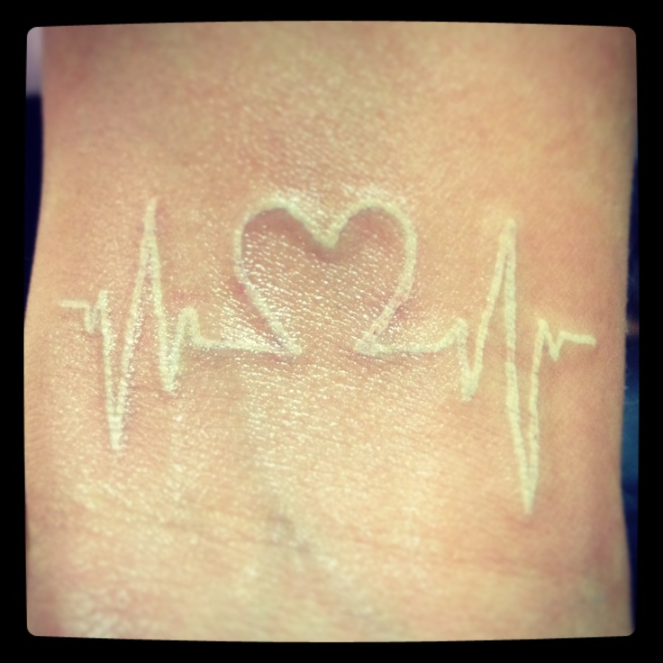 white ink  heart