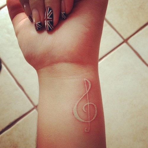 white ink  music key