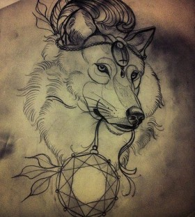 wolf tattoo sketch