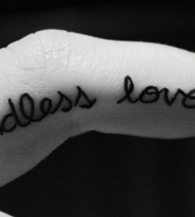 words on fingers endless love