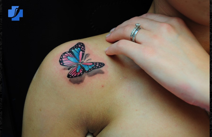 3d Butterfly Tattoos On Shoulder Tattoomagz Tattoo