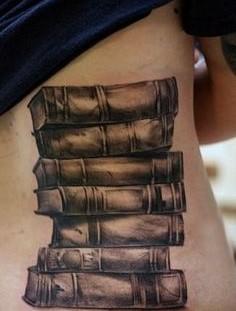 A couple of books tattoo