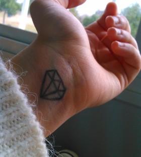Amaizing diamond minimalistic style tattoo