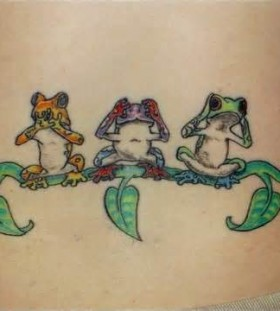 Amaizing frogs tattoo