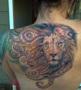 Amaizing lion tattoo