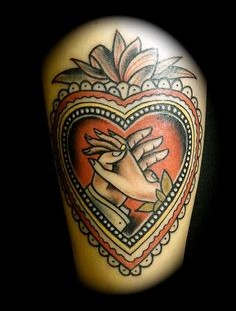 Amazing heart with hands