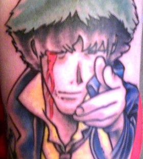 Amazing tattoo of anime