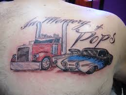 Amazing truck and car tattoo