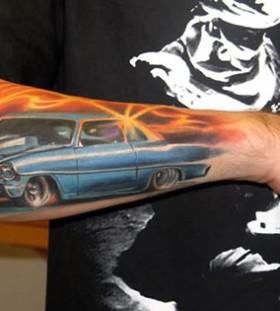 Awesome Cadilac tattoo