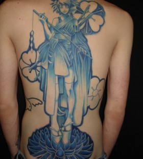 Awesome anime tattoo on the back