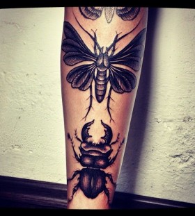 Awesome bug tattoo