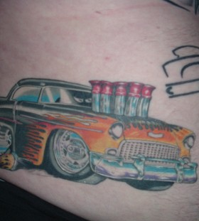 Awesome car tattoo