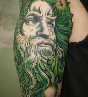 Awesome green tattoo