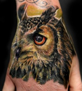 Awesome owl tattoo by Seunghyun JO aka Potter
