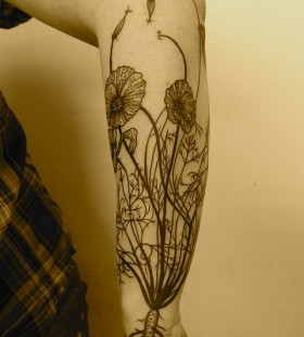 Awesome plant tattoo