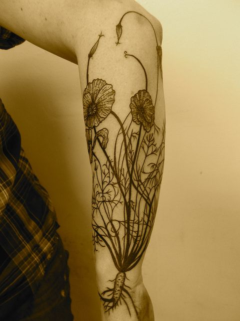 Awesome plant tattoo