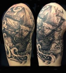 Awesome ship tattoo
