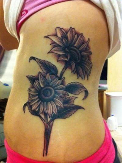 Awesome sunflower tattoo