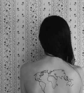 Back map tattoo
