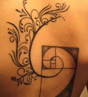Back math tattoos