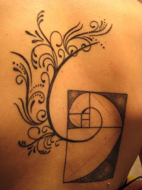Back math tattoos