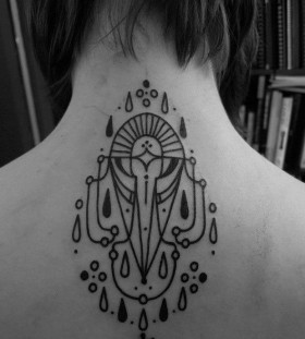 Back tattoo by Jean Philippe Burton