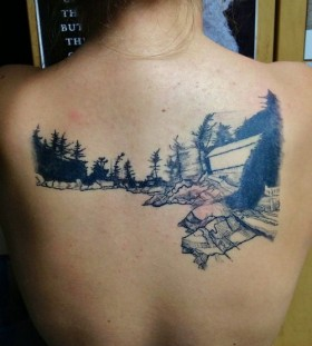 Back tattoo by Lisa Orth