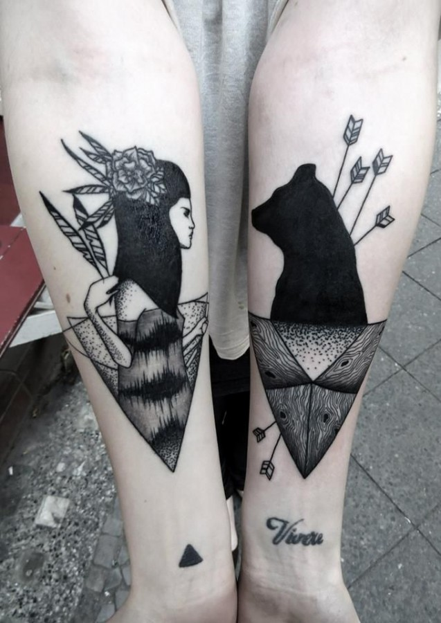 Bear black tattoo