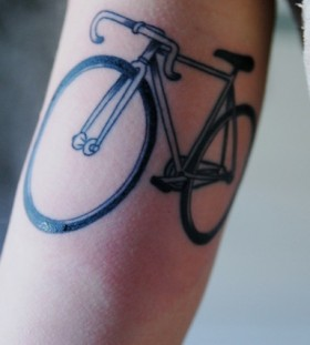 Beautiful bike tattoo
