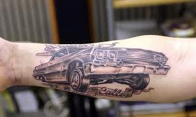 Beautiful car tattoo