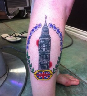 Big Ben and flag