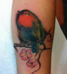 Bird tattoo by Hania Sobieski