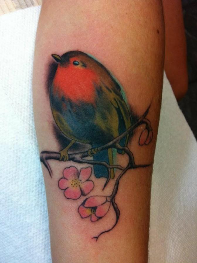 Bird tattoo by Hania Sobieski