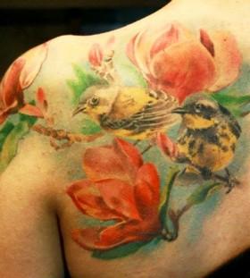 Bird tattoo by Mikky Volkova