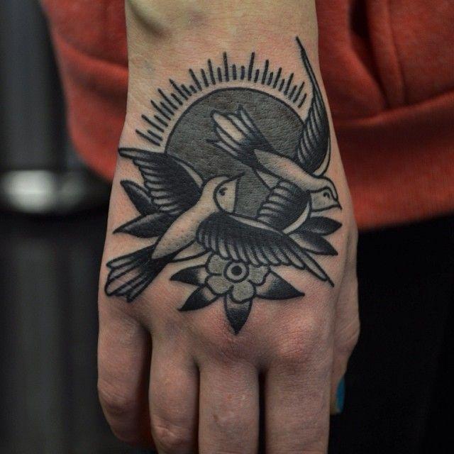 Birds black tattoo