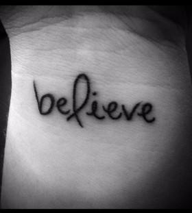Black believe tattoo