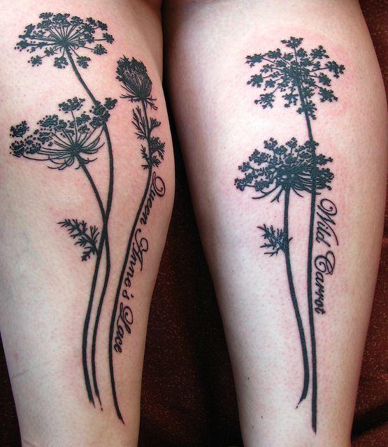 Black plant tattoo