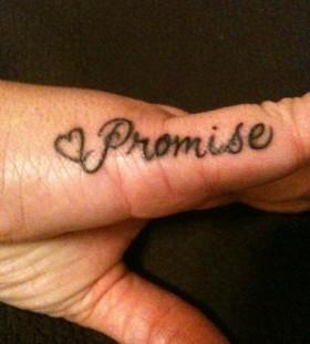 Black promise tattoo