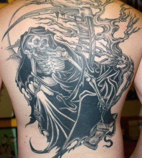 Black tattoo by Mike Schweigert