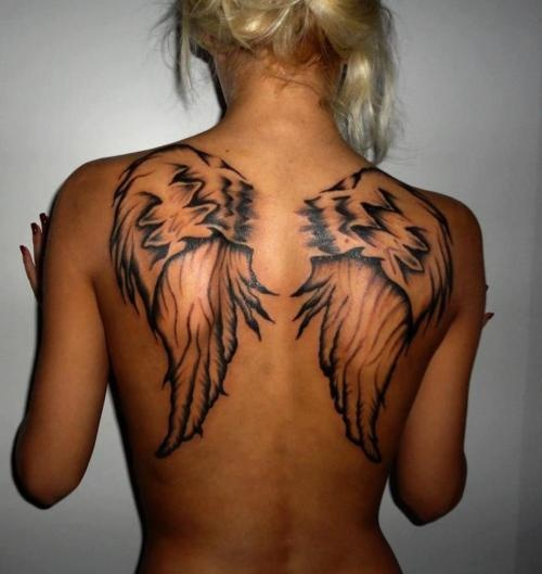 Black wings on the back