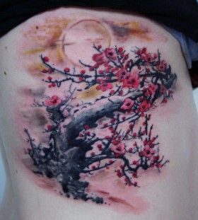 Blossom tree tattoo by Seunghyun JO aka Potter