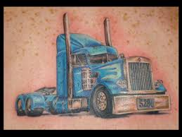 Blue truck tattoo