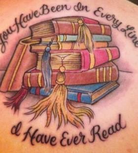 Books list tattoo
