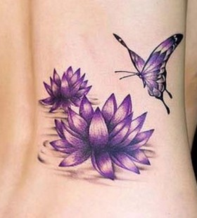 Butterflies purple tattoo