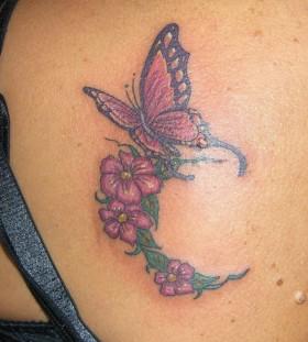 Butterflyand flowers