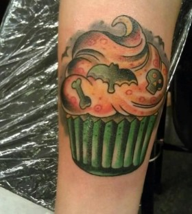 Cake and halloween tatoo