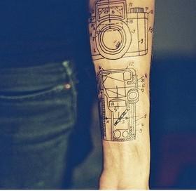 Camera architecture tattoos