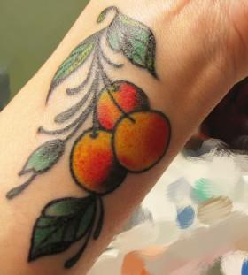 Cherry on wrist