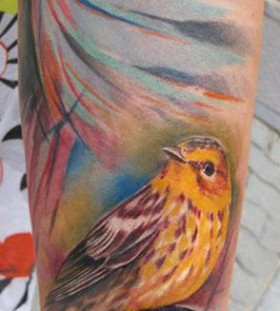 Colorful bird Ondrash Tattoo